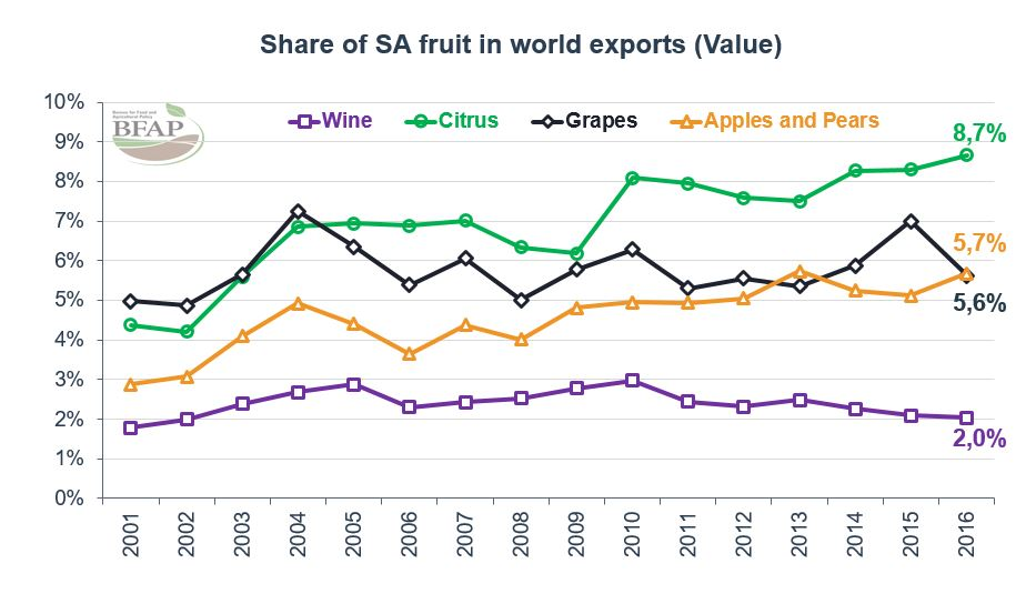 South Africa is a Key Player in Global Fruit Market